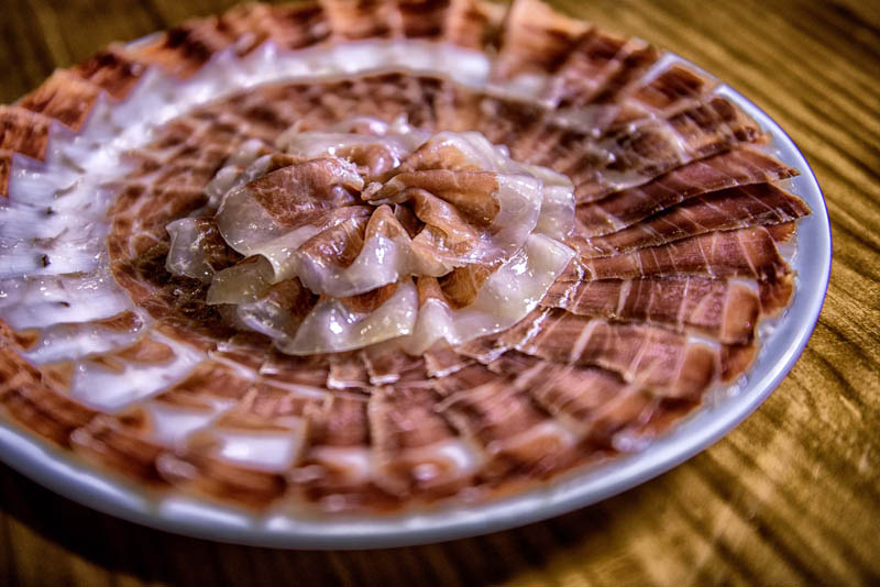 La Brasa Iberic Ham spanish food.